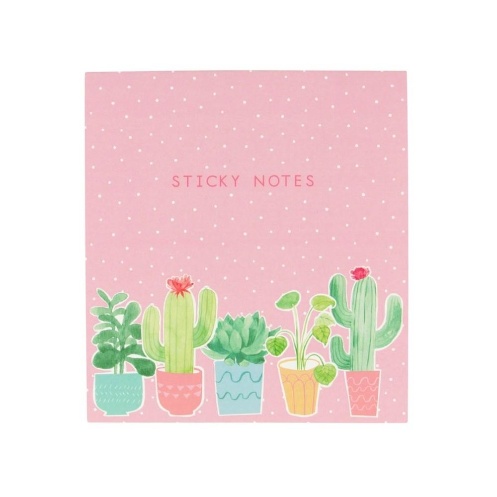 Sada lepiacich papierikov Sass & Belle Pastel Cactus Sticky Note