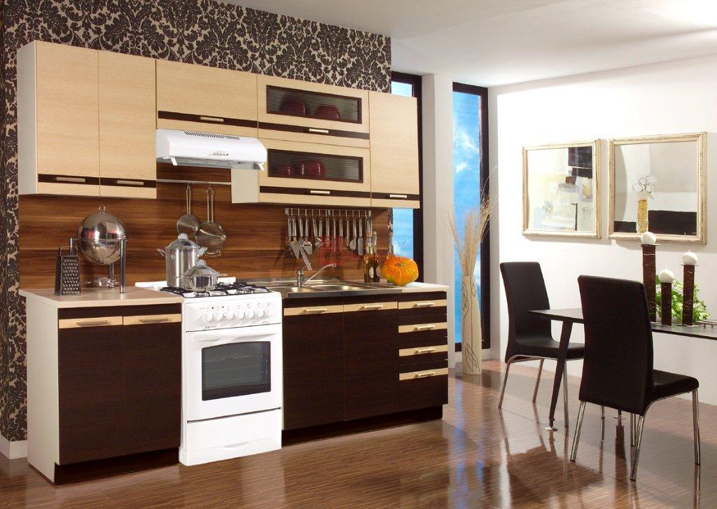 WIP LUNGO 180+60 kuchyňa - wenge / mliečny dub