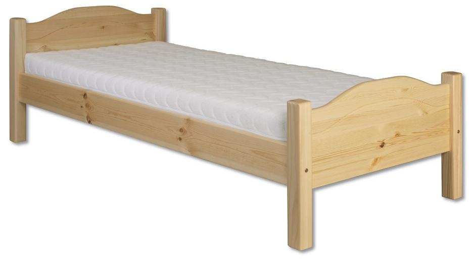 Jednolôžková posteľ 90 cm LK 128 (masív)