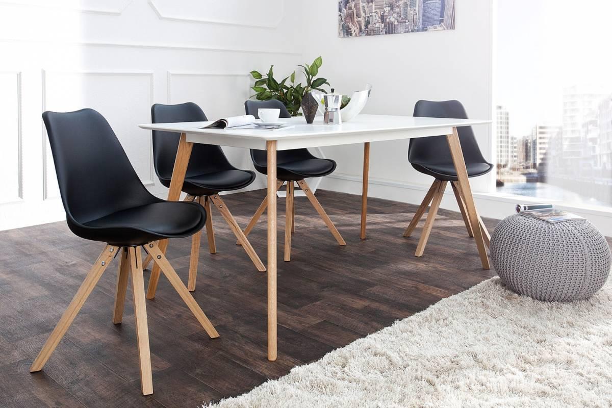Jedálenská stolička SCANIA  - čierna
