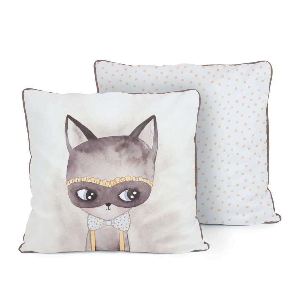 Obojstranný vankúš Tanuki Misterious Cat, 50×50cm