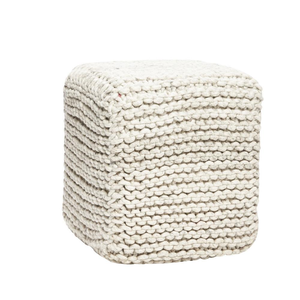Vlnený puf Hübsch Knit