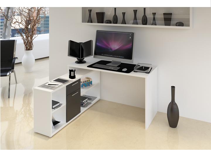 PC stolík Noe new (biela + čierna)