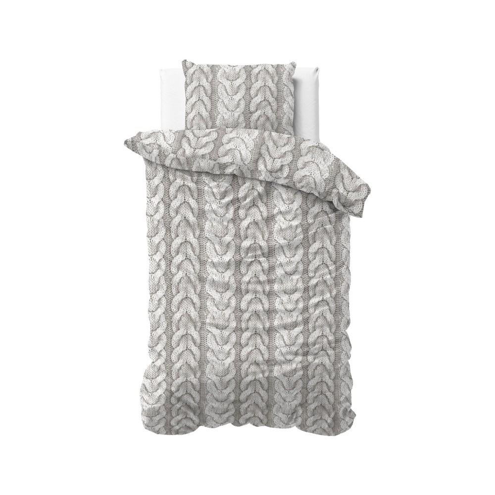 Flanelové obliečky na jednolôžko ZensationKnitted, 140×200 cm