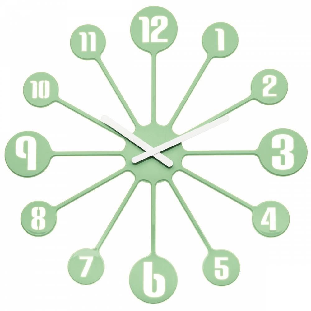 Koziol Nástenné hodiny Pinball zelená, pr. 45 cm