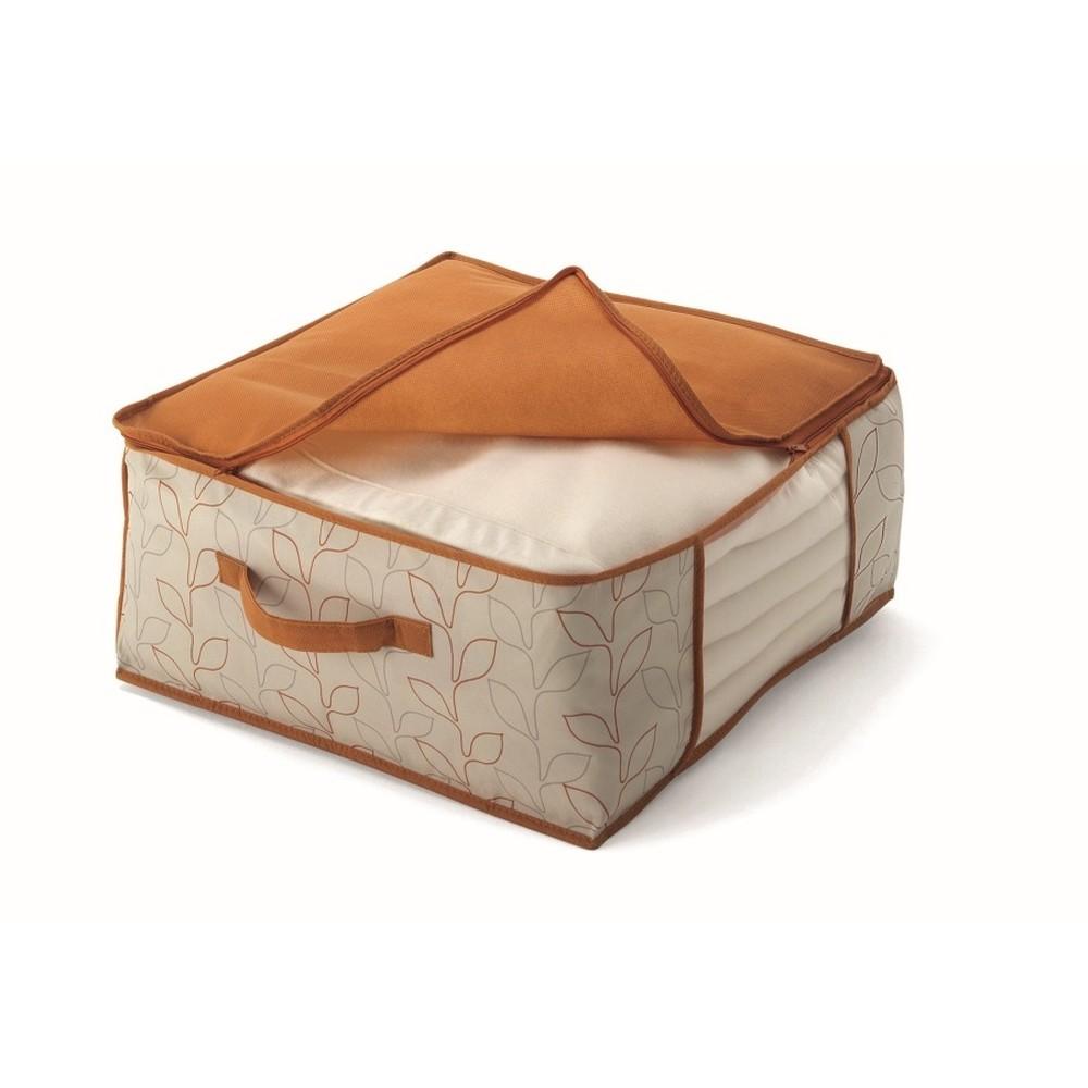 Oranžový úložný box na prikrývky Cosatto Bloom, šírka 45cm