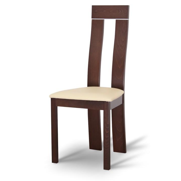 TEMPO KONDELA DESI jedálenská stolička - orech / béžová