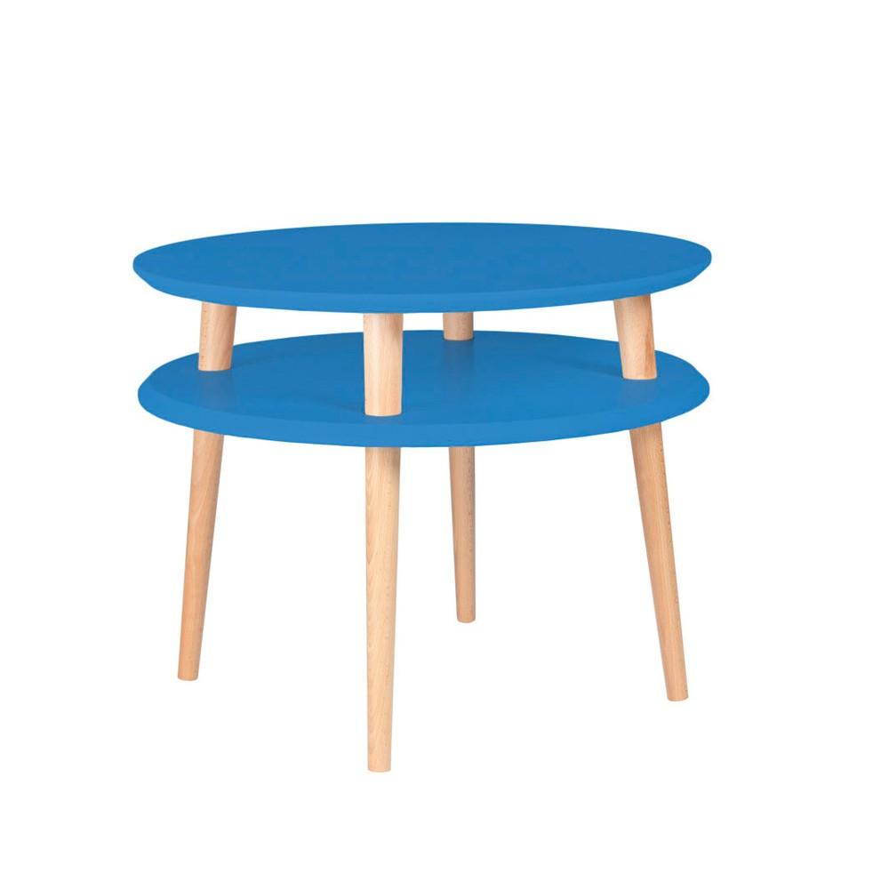 Modrý konferenčný stolík Ragaba Ufo, ⌀57 cm