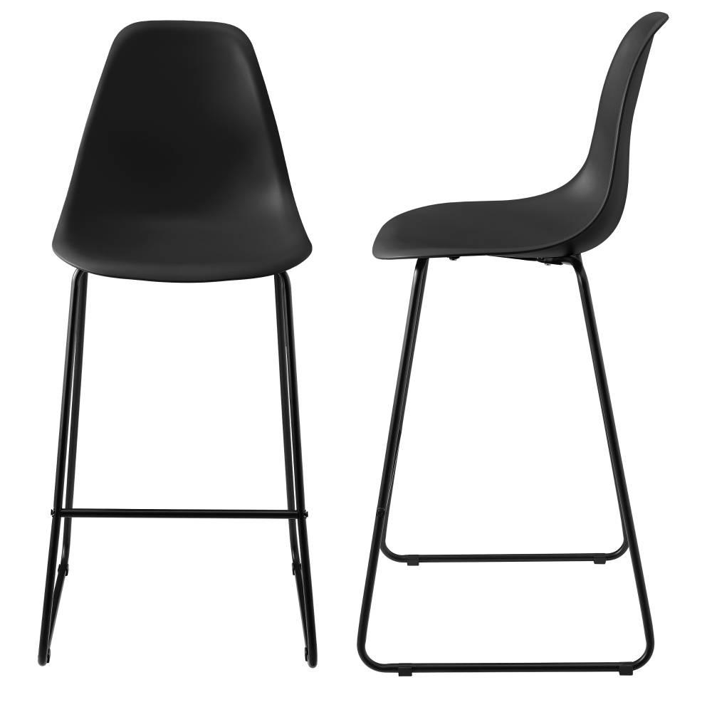 1409bd717392  en.casa ® Dizajnové barové stoličky (2 kusová sada) - čierne