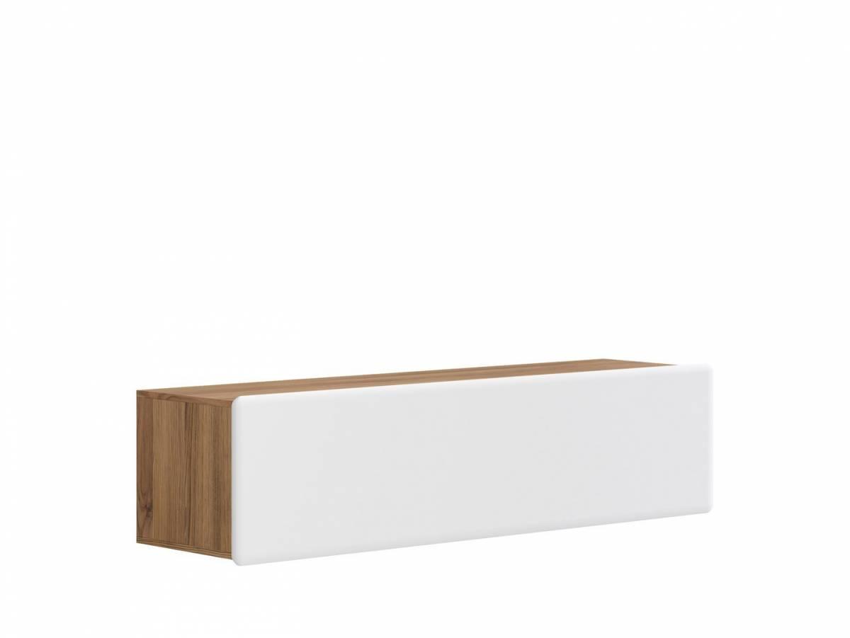 TV stolík/skrinka Possi Light RTV1K 4/16 (smrekovec sibiu zlatý + lesk biely)