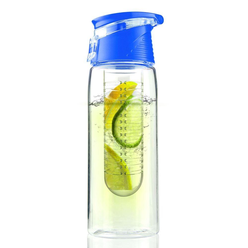 Modrá fľaša Flavour It 2 Go, 600 ml