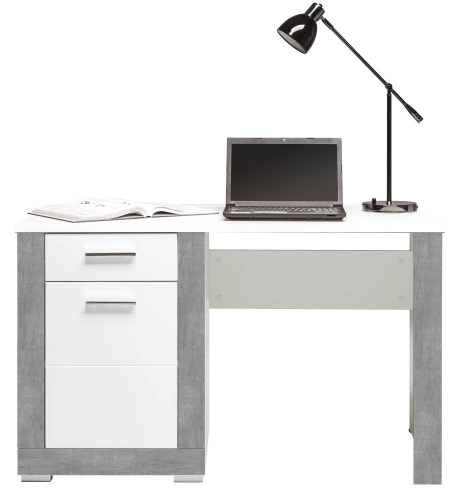 PC stolík Twin TW 12 (sivá + biela matná)