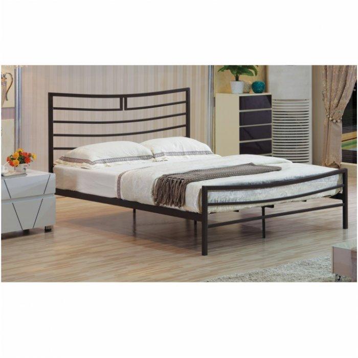 TEMPO KONDELA DALIA 160 posteľ s roštom - čierna