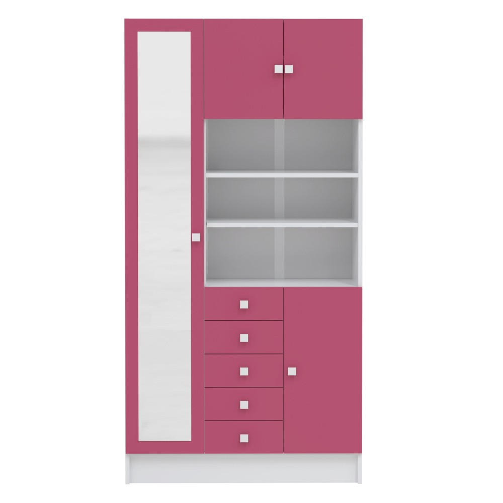 Ružová kúpeľňová skrinka Symbiosis André, šírka 90cm