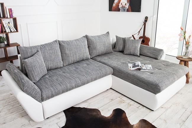 Sedačka RUDEO - biela, sivá