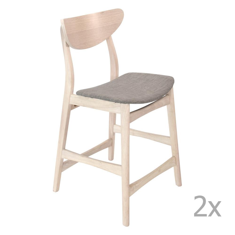 Sada 2 drevených barových stoličiek RGE William