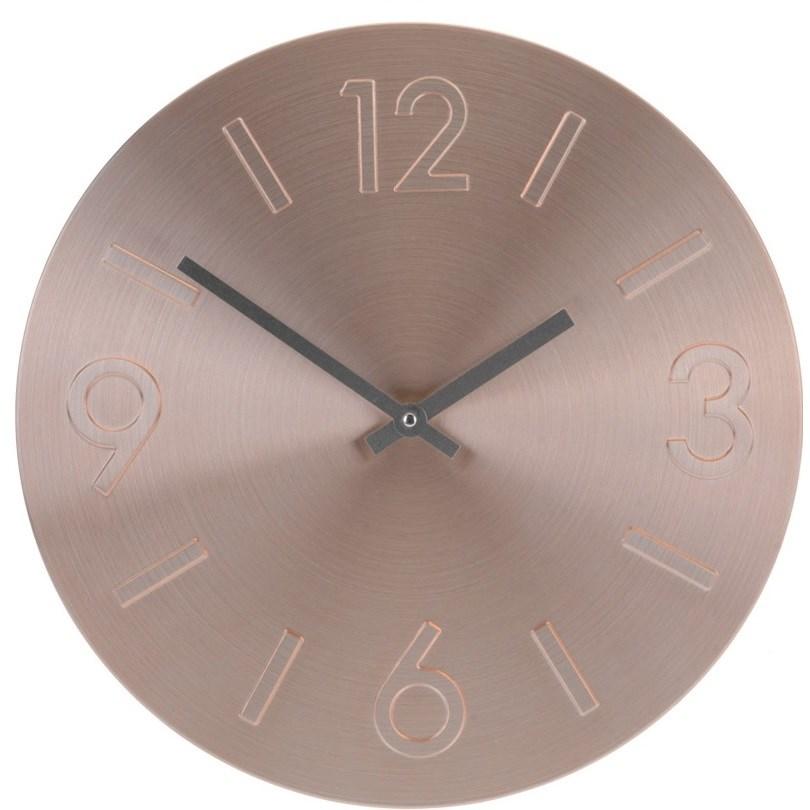 Nástenné hodiny Atlanta ružová, 35 cm