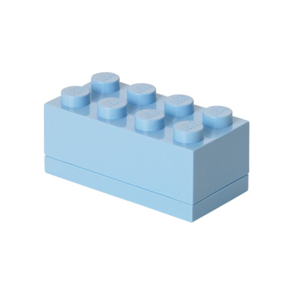 Svetlomodrý úložný box LEGO® Mini Box II