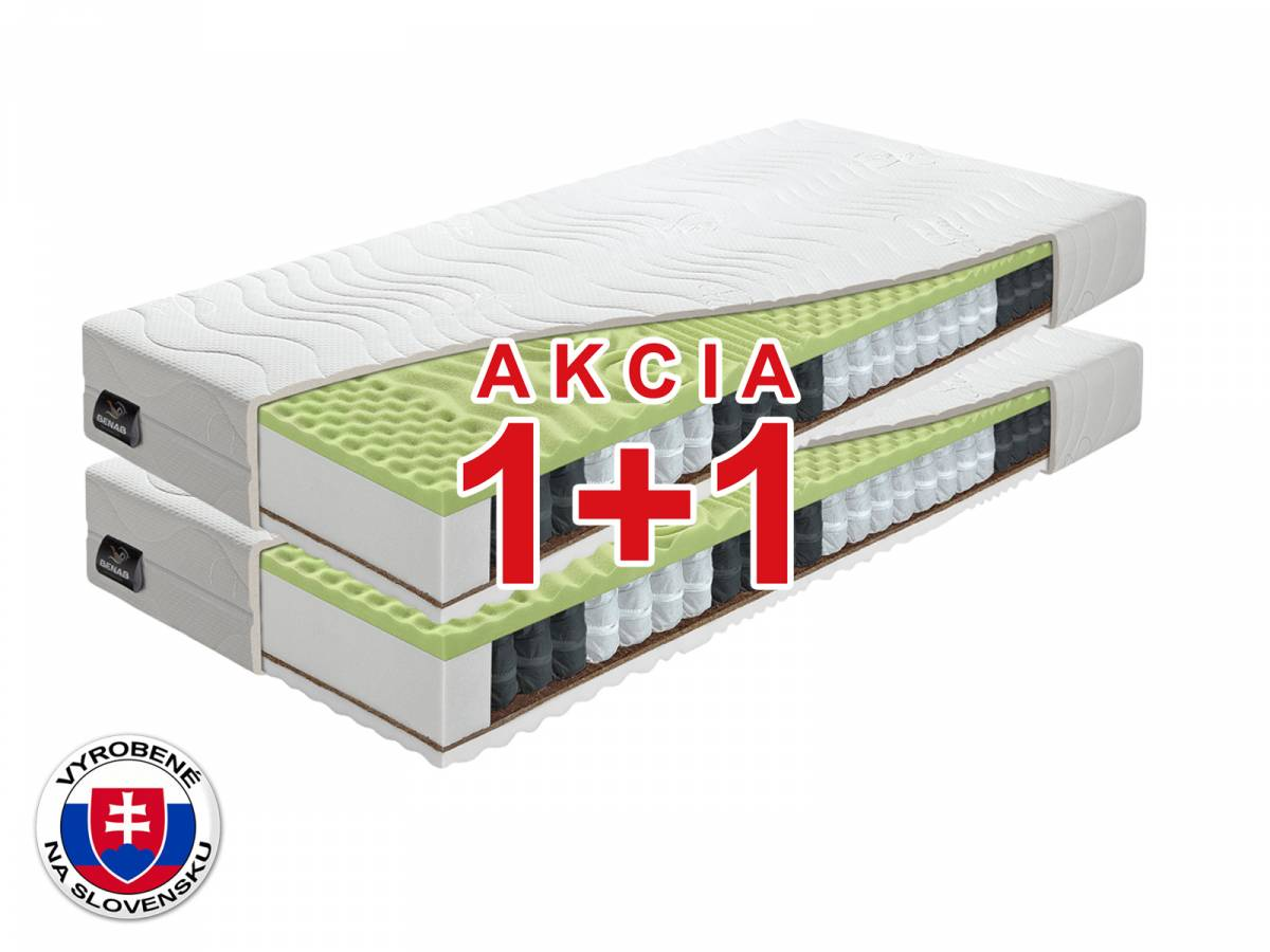 Taštičkový matrac Benab Ergomax 200x80 cm (T3/T4) *AKCIA 1+1