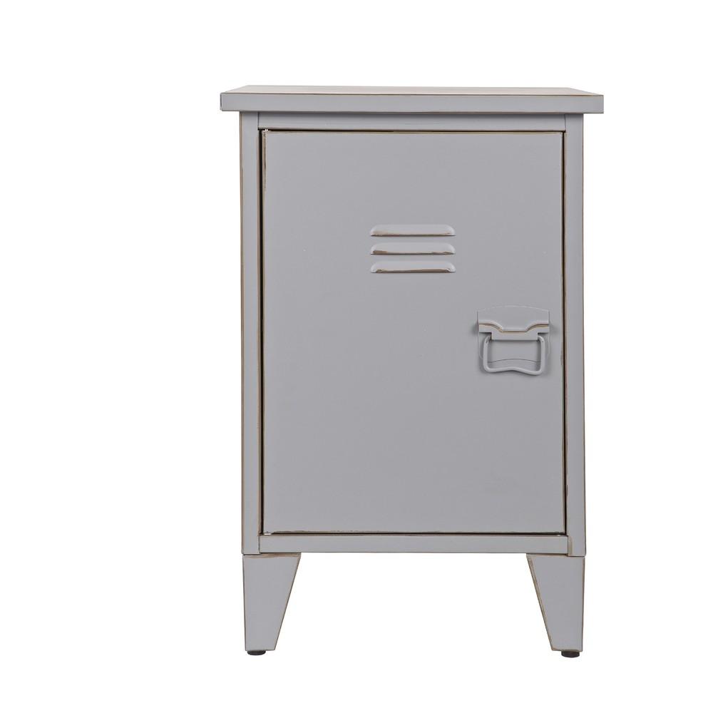 Sivý nočný stolík s otváraním na ľavej strane De Eekhoorn Max