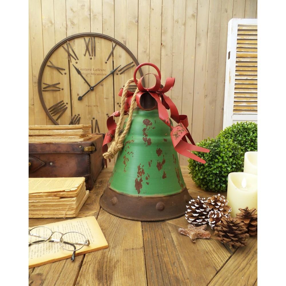 Sada 2 dekoratívnych zelených zvonov Orchidea Milano Xmas, výška 40 cm