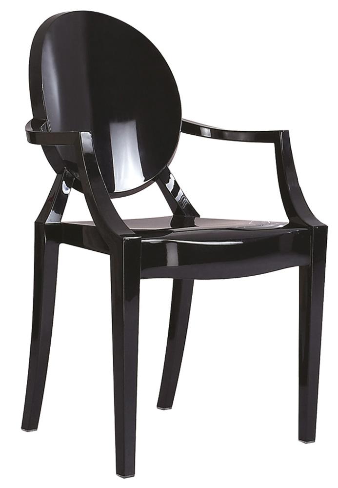 Jedálenská stolička Luis čierna