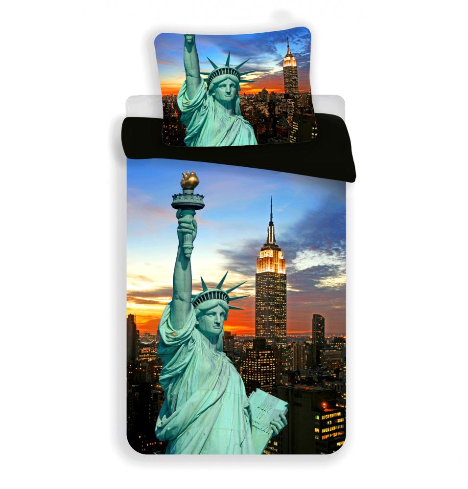 Jerry Fabrics Bavlnené obliečky New York night, 140 x 200 cm, 70 x 90 cm