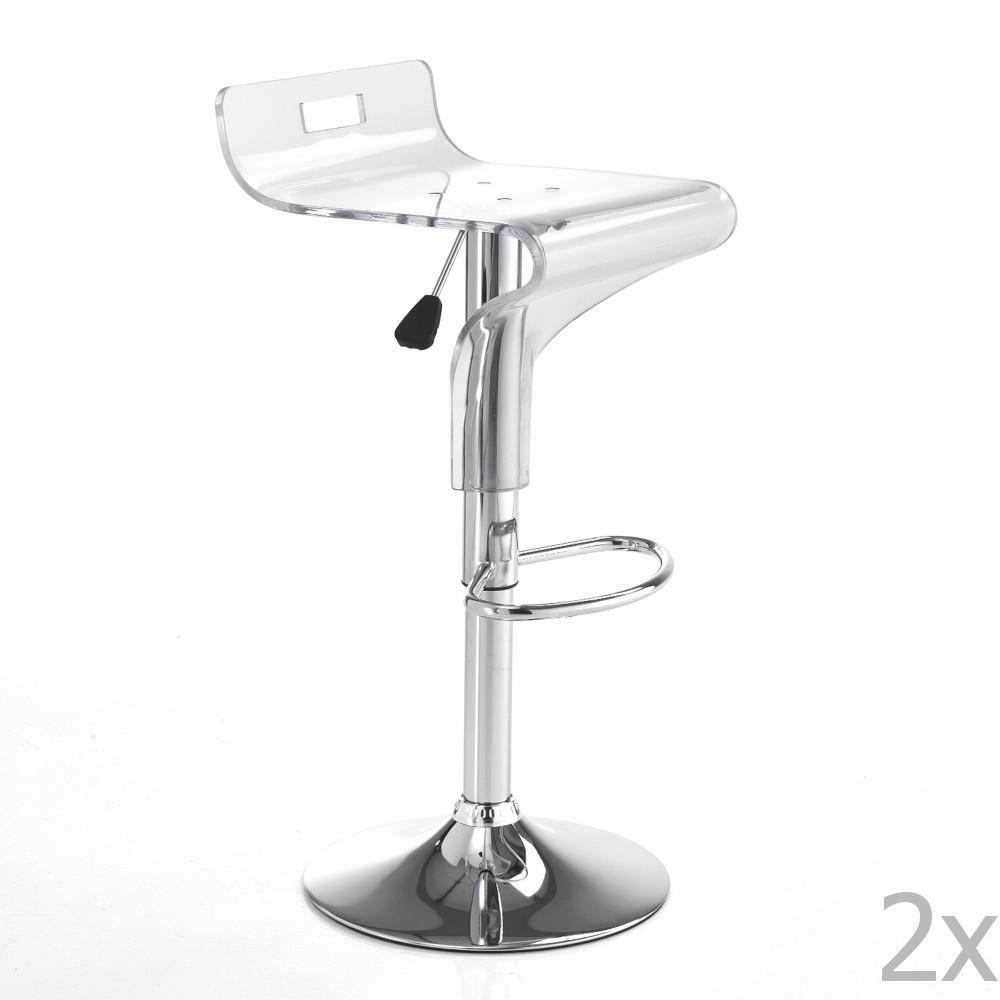 Sada 2 bielych barových stoličiek Tomasucci Ice