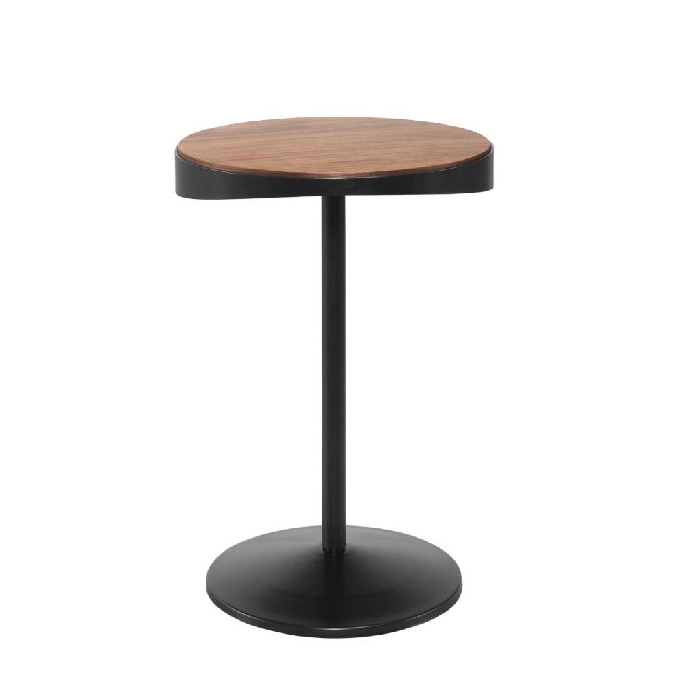 Odkladací stolík s doskou z orechového dreva Wewood - Portugues Joinery Drop, Ø 40 cm