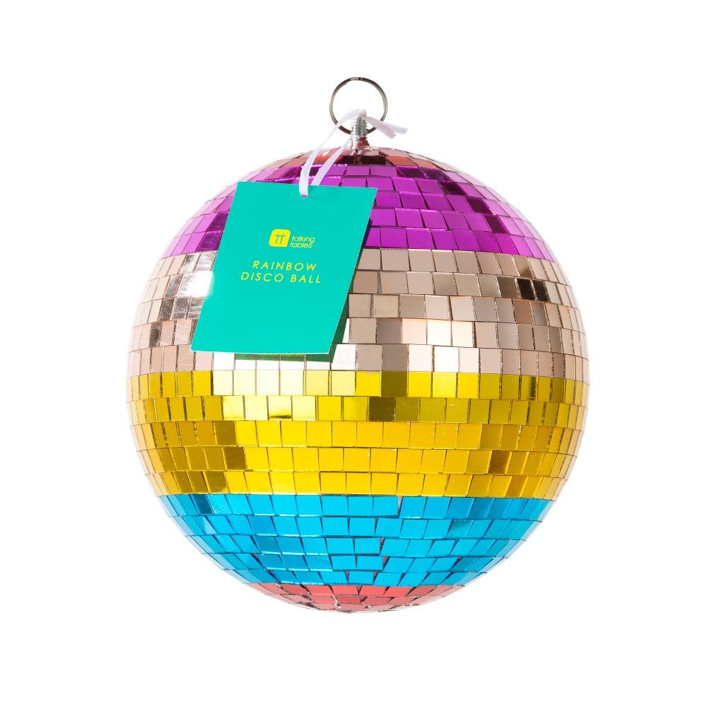 Disco guľa Talking Tables Boho Rainbow, ⌀ 20 cm