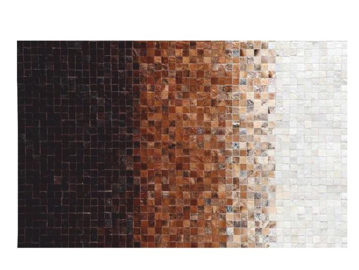 Kožený koberec TYP 07 (hovädzia koža + vzor patchwork)