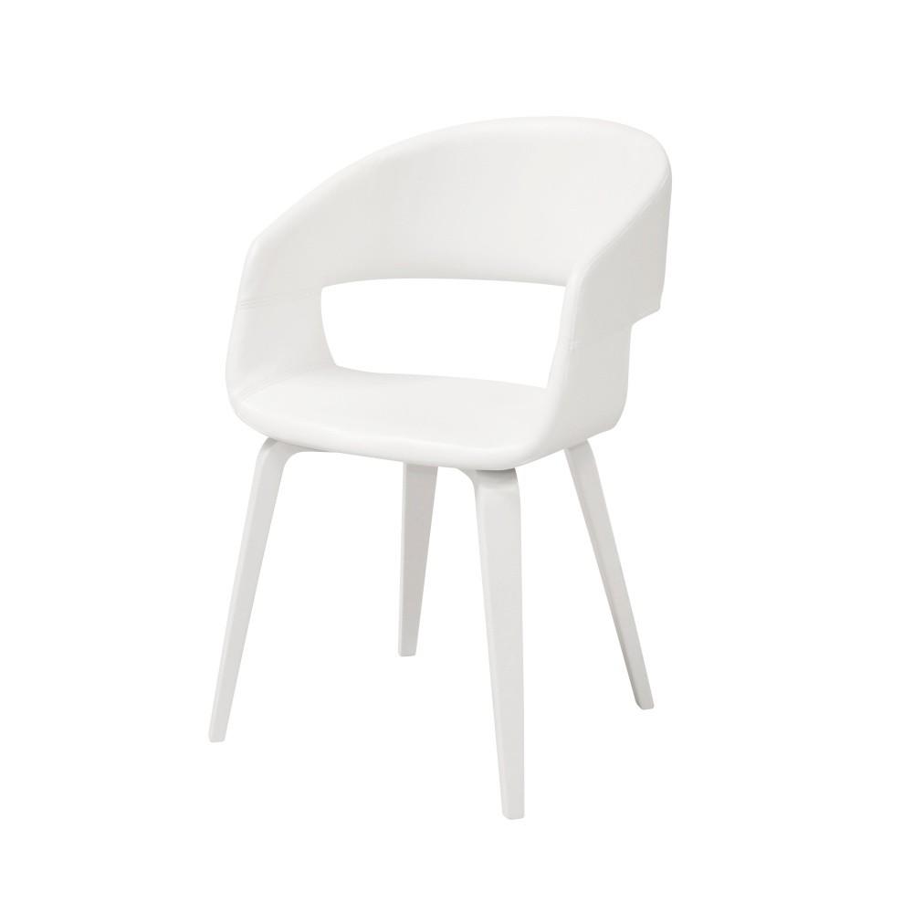 Biela jedálenská stolička Interstil Nova