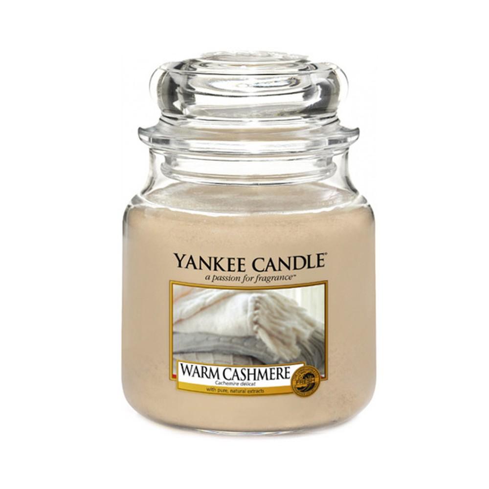 Vonná sviečka Yankee Candle Hrejivý Kašmír, doba horenia 65 - 90 hodín