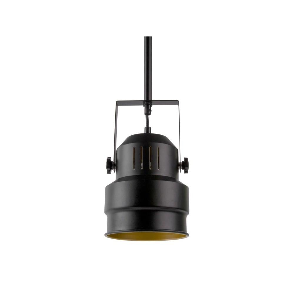 Čierne závesné svietidlo Leitmotiv Studio