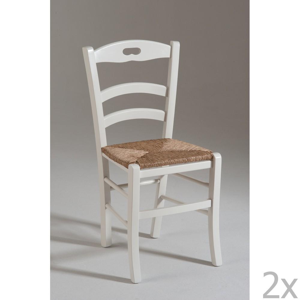 Sada 2 jedálnych stoličiek sa sedákom zo slamených stebiel Castagnetti Nancy