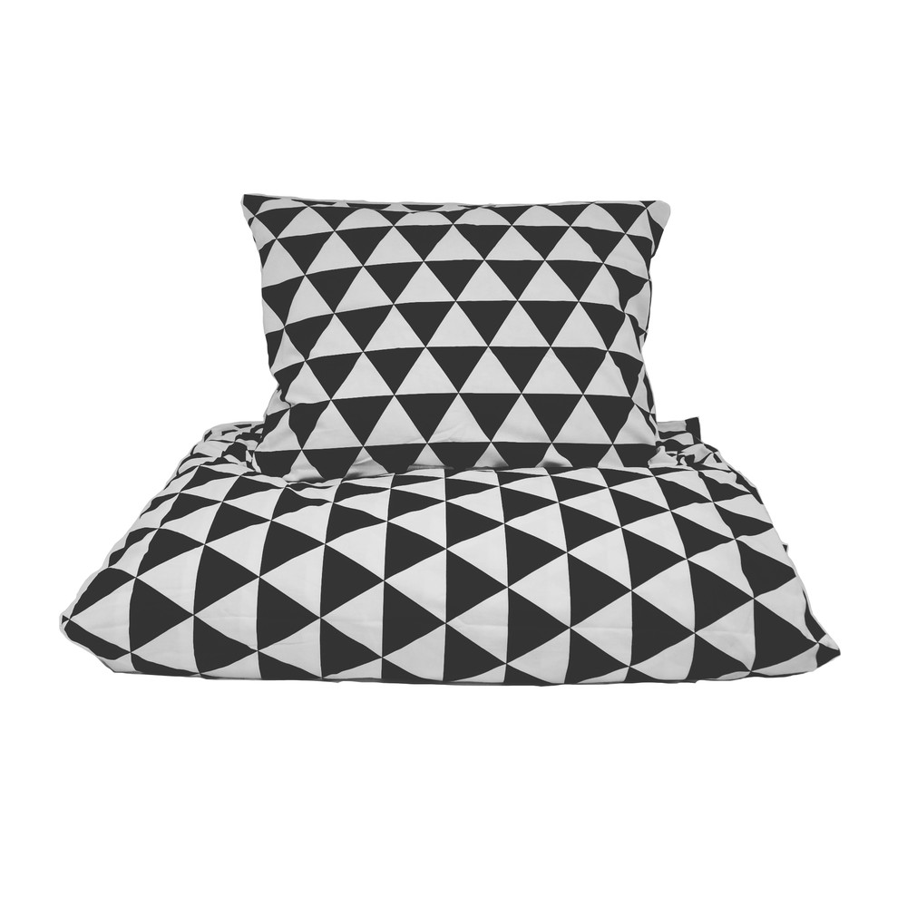Bavlnené posteľné obliečky So Homel Big Triangles, 140 x 200 cm