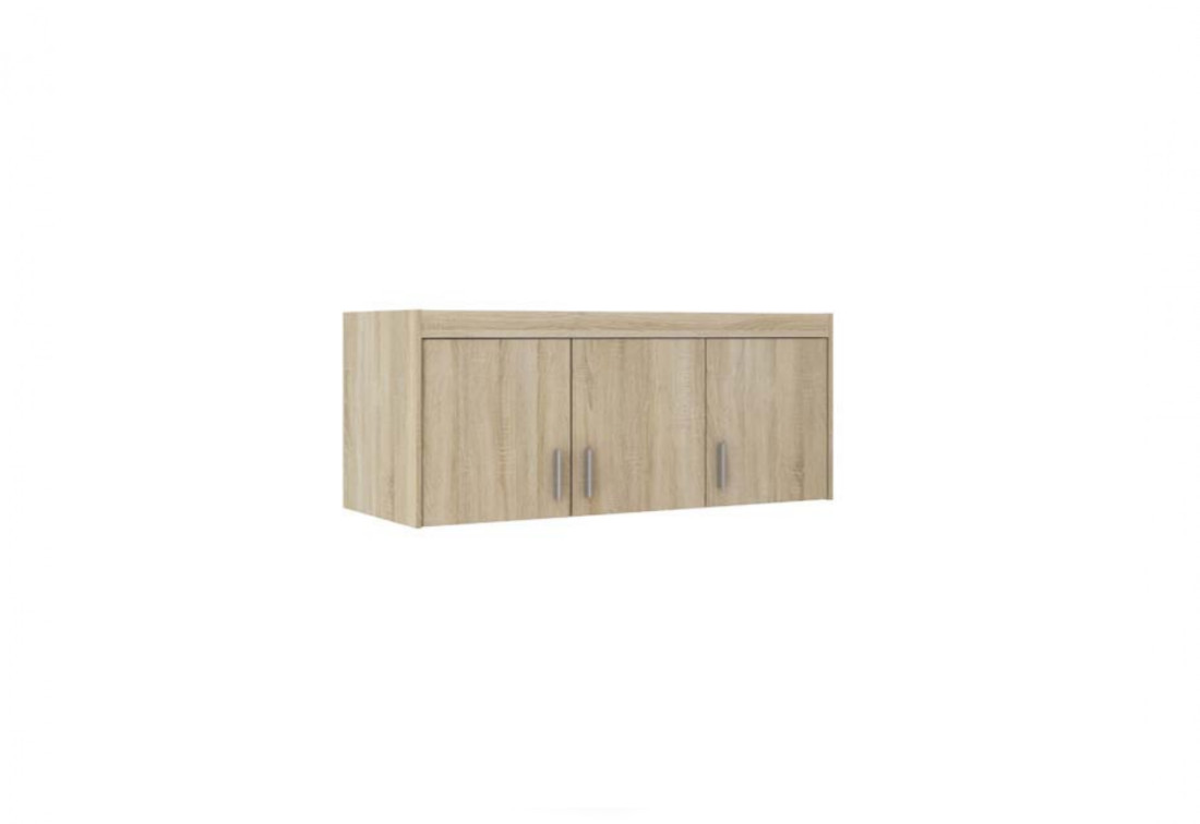Nástavec na šatní skříň ELLENA 3D, 133x55x53, dub sonoma