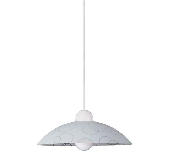 Závesné svietidlo Rabalux Circle 1844, biela-transparent