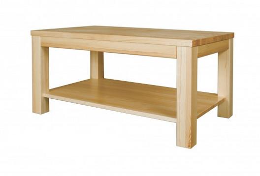 Konferenčný stolík - masív ST117 | borovica S120 Farba: Orech