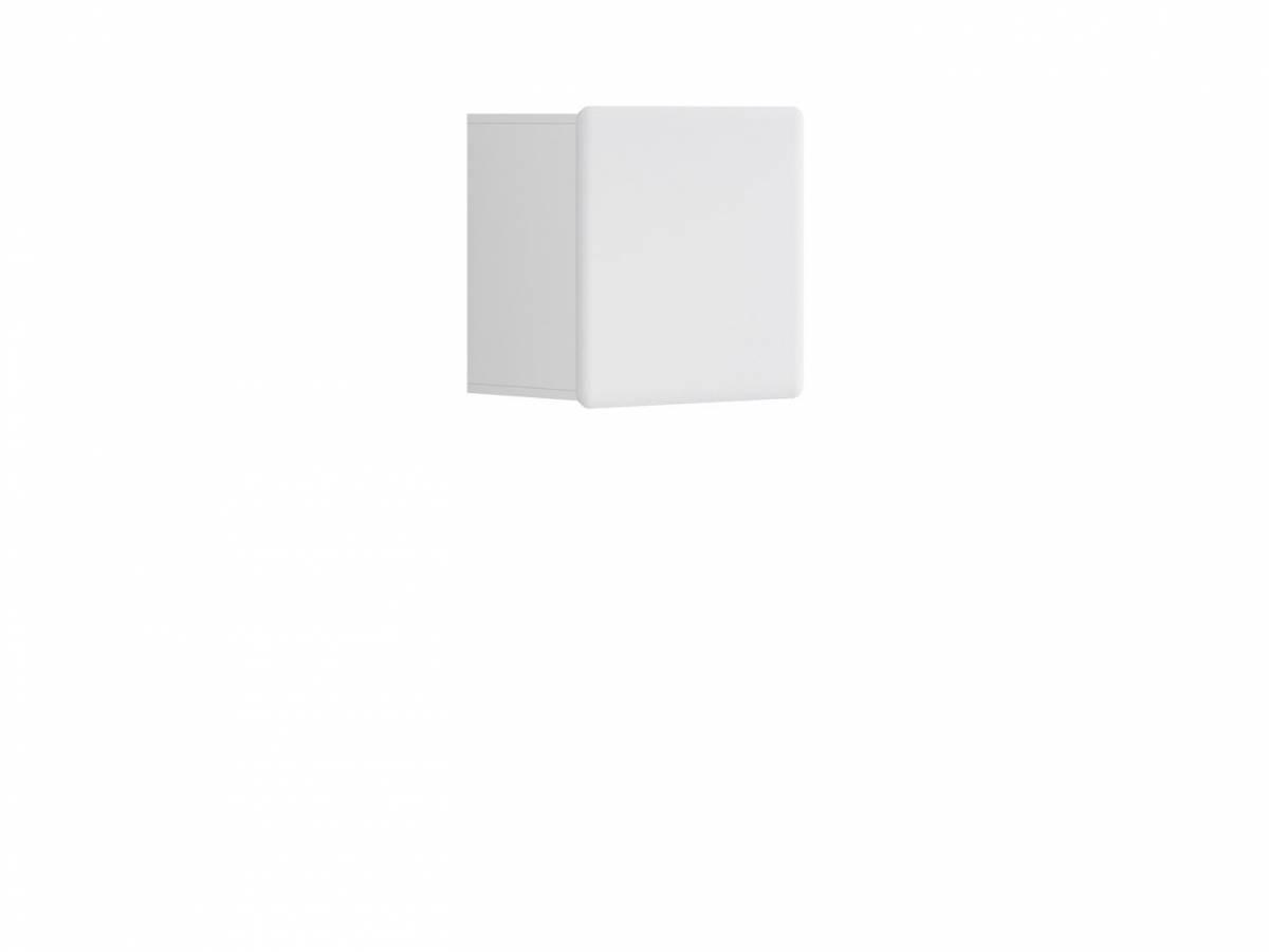 Skrinka na stenu Possi Light SFW1D/5/5 (biela + lesk biely)