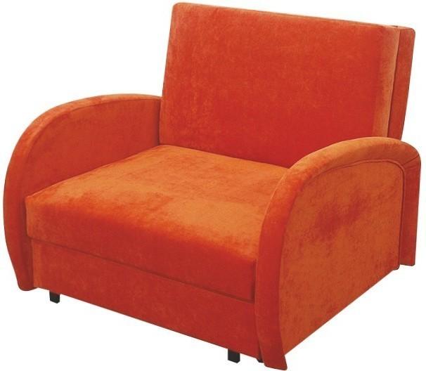 Rozkladacie kreslo, s úložným priestorom, oranžová, MILI 1