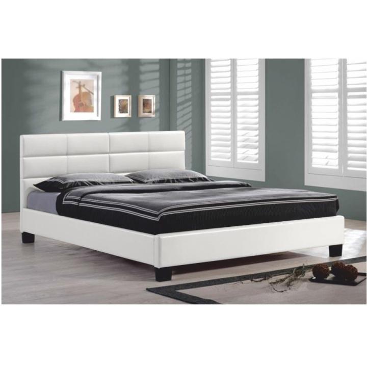 TEMPO KONDELA MIKEL 160 manželská posteľ s roštom - biela