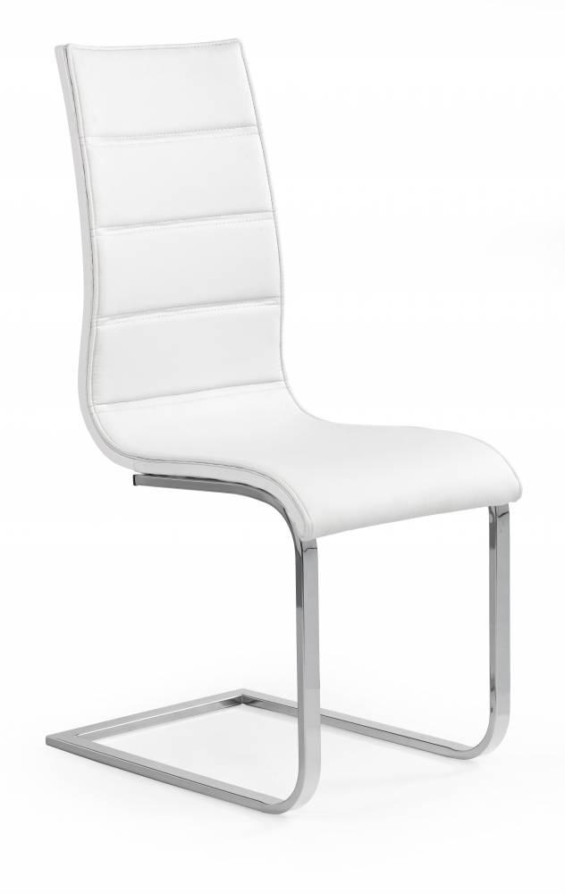 Jedálenská stolička K104 (biela + biela)