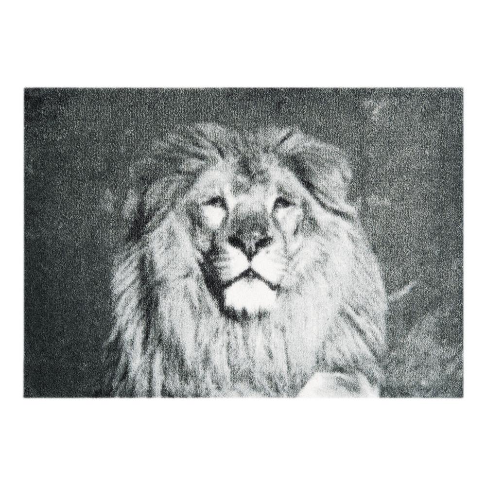 Sivá rohožka Mint Rugs  StateMat Lion, 50x75cm