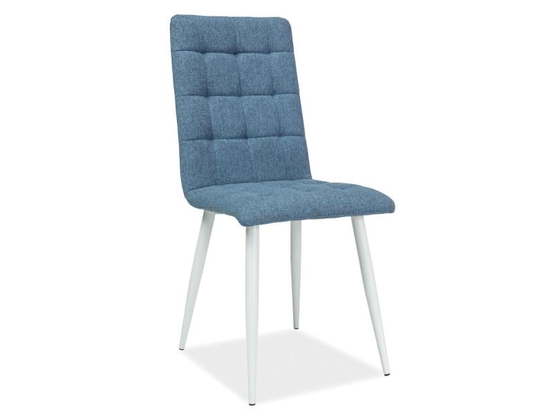 MOTTO jedálenská stolička, biela/modrá