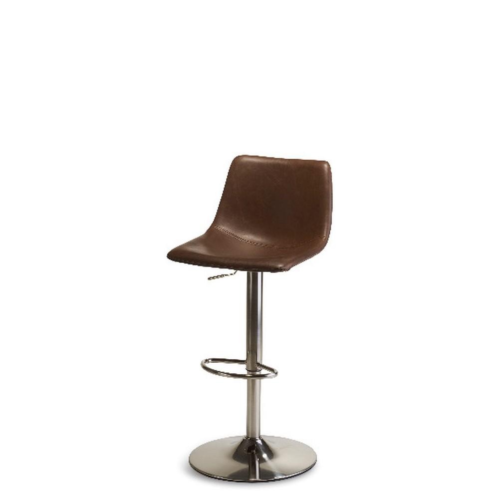 Hnedá polohovacia barová stolička Furnhouse Lukas Swivel