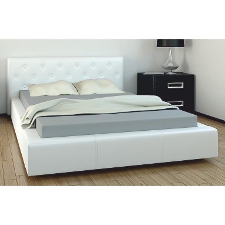 TEMPO KONDELA GERET 160 manželská posteľ - biela