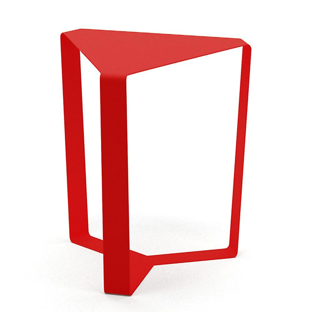 Červený odkladací stolík MEME Design Finity, výška 40 cm