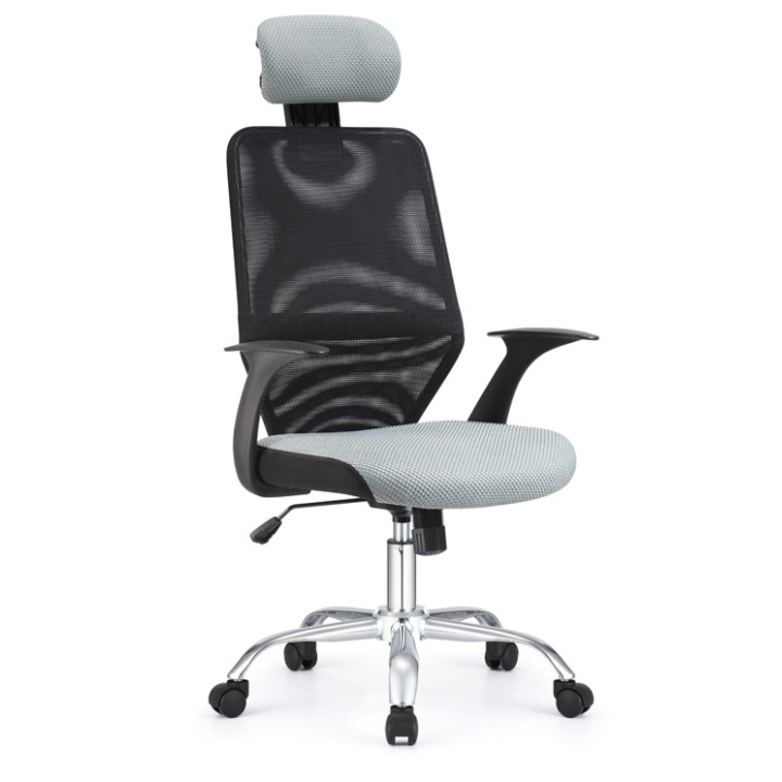 Kancelárska stolička, čierna/sivá REYES