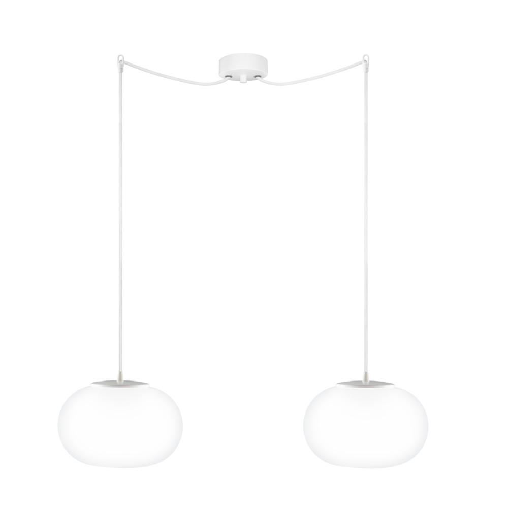 Biele dvojité závesné svetlo Sotto Luce Dosei
